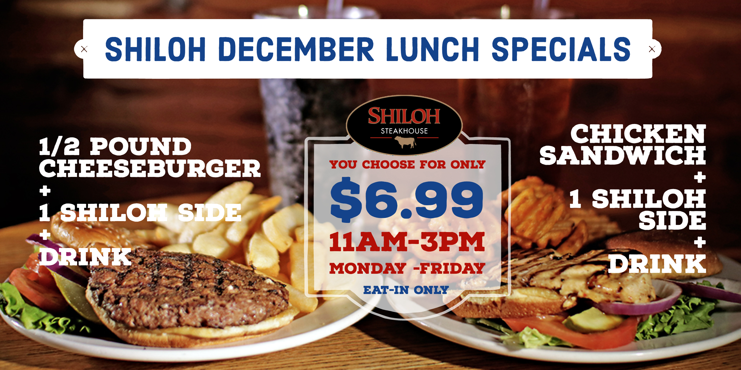 December Lunch Special – $6.99