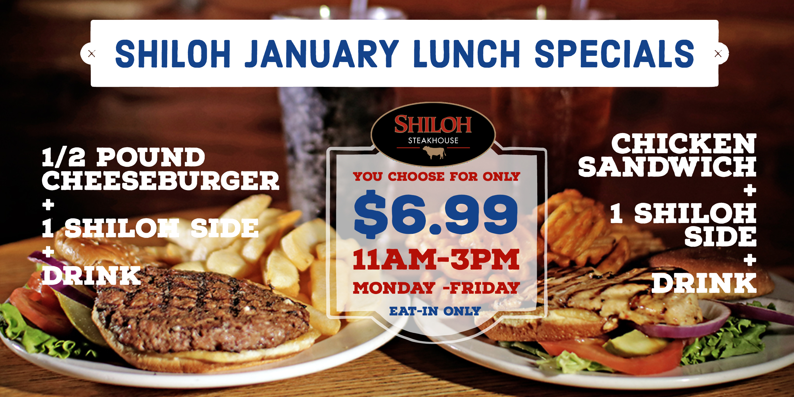 January Lunch Specials – $6.99